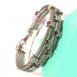 Multi Butterfly with Diamond Sterling Steel White Bangle