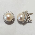 Classic 10mm Pearl and CZ Earring