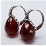 La Preciosa Red Agate Earring