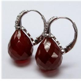 La Preciosa Red Agate Earring