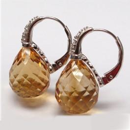 La Preciosa Champagne Quartz Earring
