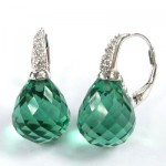 La Preciosa Emerald Green Quartz Earring