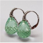 La Preciosa Light Green Quartz Earring