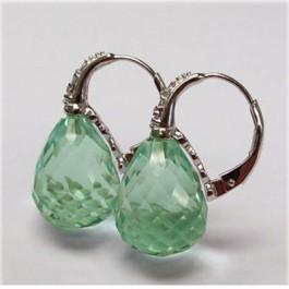 La Preciosa Light Green Quartz Earring
