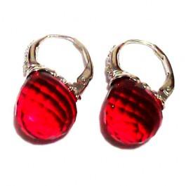 La Preciosa Ruby Red Crystal Earring