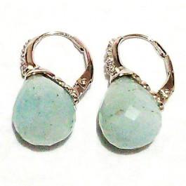 La Preciosa Solid Aguamarine Stone Earring
