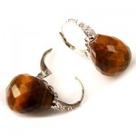La Preciosa Tiger Eye Stone Earring
