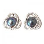 Swirl Black Pearl Earring