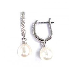 FW Pearl With Snap Back Earring