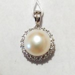 Classic 10mm Pearl and CZ Pendant