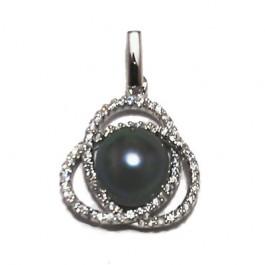 Swirl Black Pearl Pendant