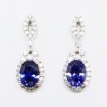 Oval Tanzanite Blue Drop Earring