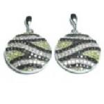 Zebra YB&W CZ Earring