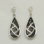 Black & White Pattern Drop Earring