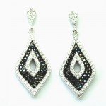 Black & White Diamond Shape Earring