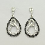 Black & White Drop Within Drop Earring