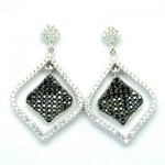 Black & White Square Dangle Earring