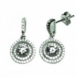 Halo CZ Dangle Earring