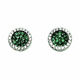 Target Emerald CZ Pave Earring