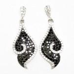 Black & White Leaf Dangle Earring