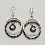 Black & White Double Rings Earring