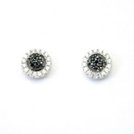Black & White Round Stud Earring