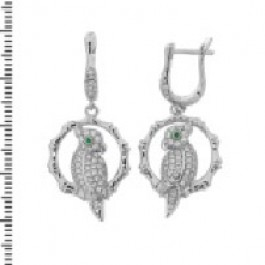 Bird Design CZ Earring