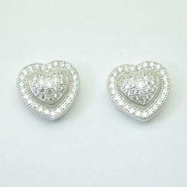 Dome Heart Earring