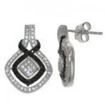 Black & White CZ Earring