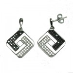 Black & White Square Earring