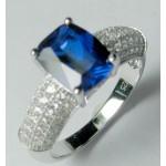 Prince Sapphire & White CZ Ring