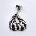Zebra B&W CZ Pendant