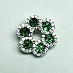 Flower Emerald CZ Pendant