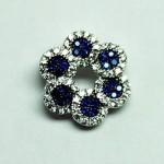 Flower Sapphire CZ Pendant