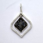 Black & White Square Dangle Pendant